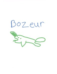 licorne des mers - Croquis d'élève